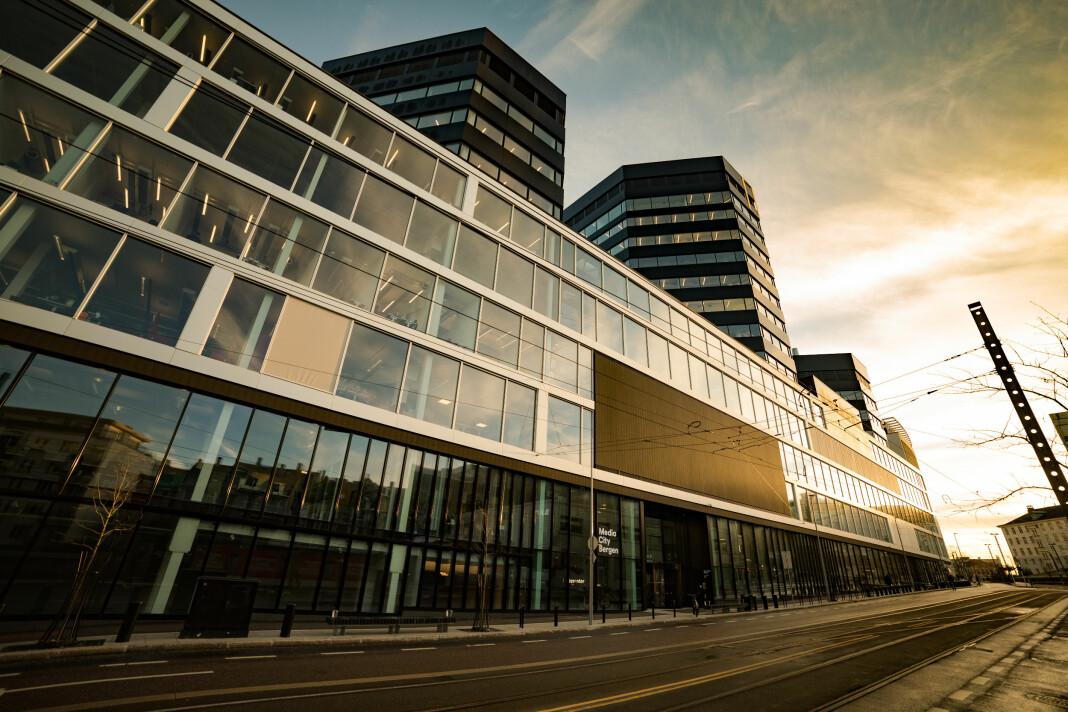 Media City Bergen ligger i Lars Hilles gate 30 i Bergen. Foto: Simon S. Brandseth