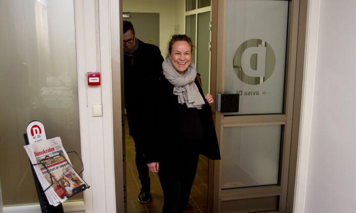Høygravid og historisk: Henriette Ydse Krogstad er ny redaktør i Demokraten