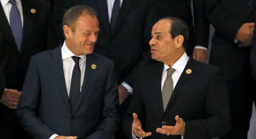 Egypts president ga europeisk presse en skjennepreken etter toppmøtet: – Ikke belær oss!