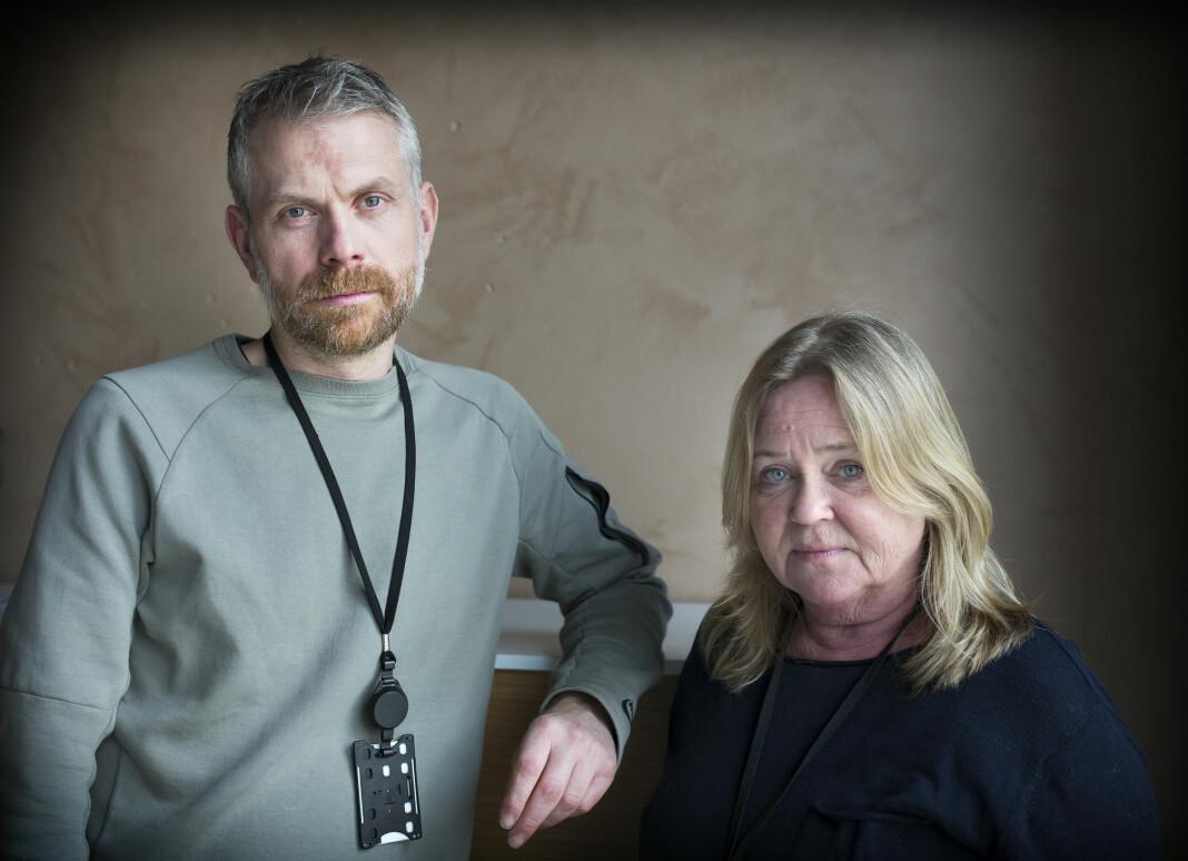 Journalistene Eivind Kristensen og Connie Bentzrud laget «Jenta på broa» for Fædrelandsvennen. Foto: Kjartan Bjelland/Fædrelandsvennen