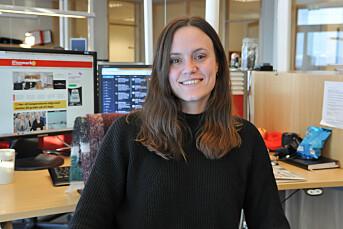 MORGENRUTINEN: Line Stensland Haglund fikk ei utfordring da hun skulle intervjue fulle finnmarkinger på direkten