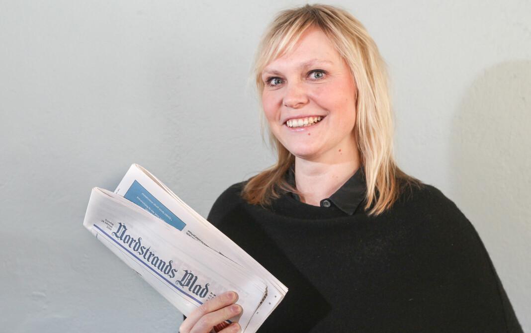 Til sommeren tar Kristin Stoltenberg over som redaktør i Amedia-avisen Nordstrands Blad. Foto: Bjørn V. Sandness.