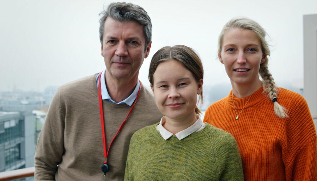 Journalistene Maria Mikkelsen, Frank Haugsbø og Mona Grivi Norman i VG jobbet med Tolga-saken. Foto: Nils Martin Silvola