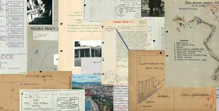 Et utvalg av dokumentene Dagbladet hentet ut fra polske arkiver. Skjermdump fra Dagbladet