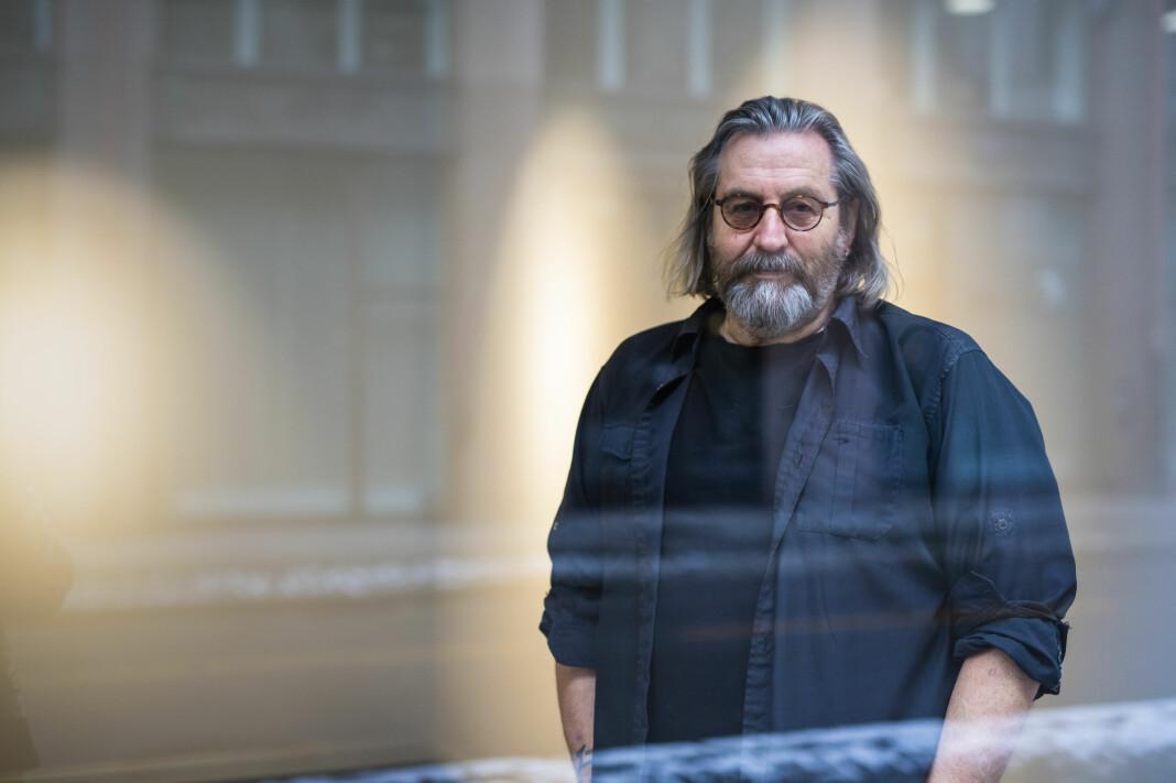 Fotograf Terje Bringedal i Fotografiens hus. Arkivfoto: Kristine Lindebø