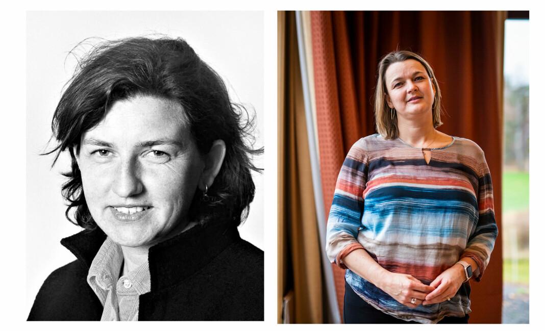 Karina Jensen (t.v) var en engasjert og prisvinnende fotojournalist, som døde i 1998. Nå vil NJ-leder Hege Iren Frantzen videreføre fondet i hennes minne, som har støttet fotojournalister i 30 år. Foto: Arkiv / Kristine Lindebø