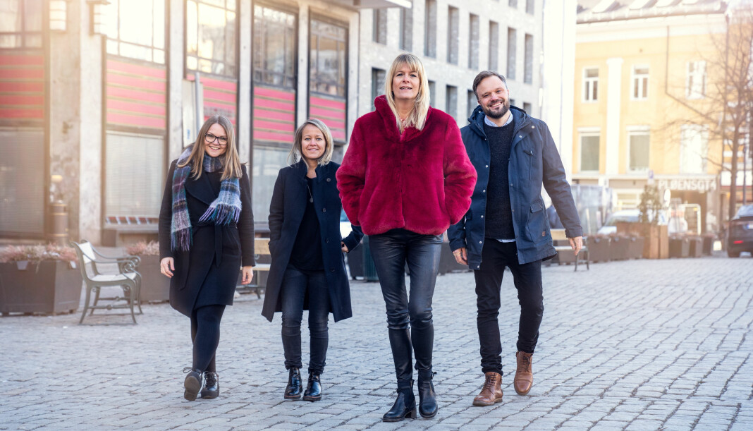 Disse skal lede Mastiff: Fra venstre Heidi Hegvik, Hege Vik Hansen, Kathrine Haldorsen og Jostein Olseng. Foto: Espen Solli/Mastif