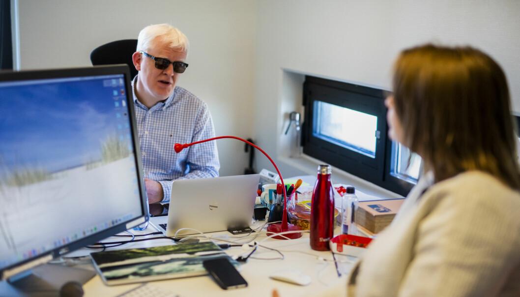 Nestleder Dag Idag Tryggestad og leder Hege Iren Frantzen i Norsk Journalistlag. Arkivfoto: Kristine Lindebø