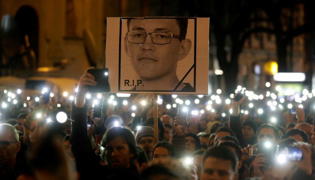 Drapene på journalisten Jan Kuciak og hans kjæreste førte til massedemonstrasjoner og utløste politisk krise i Slovakia. Foto: Reuters / NTB scanpix