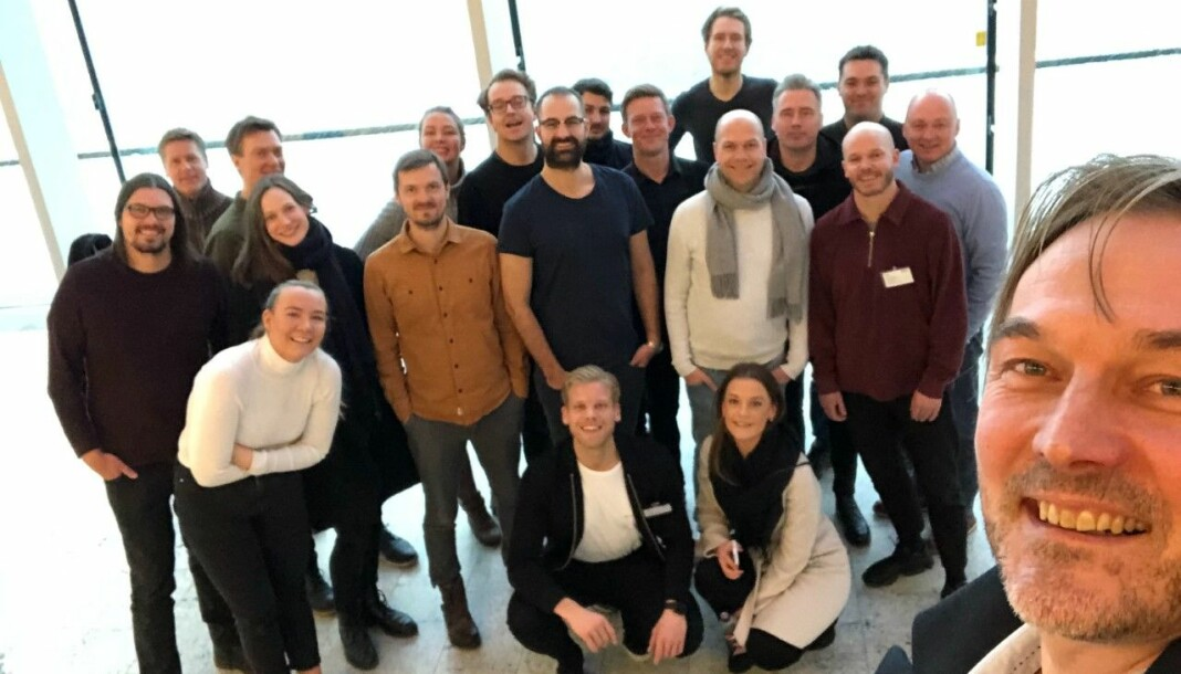 Scandinavia Online startet året med besøk på Aller Media HQ i København. Her er nesten hele teamet samlet. Direktør og ansvarlig redaktør Jan Thoresen i forgrunnen. Foto: Jan Thoresen