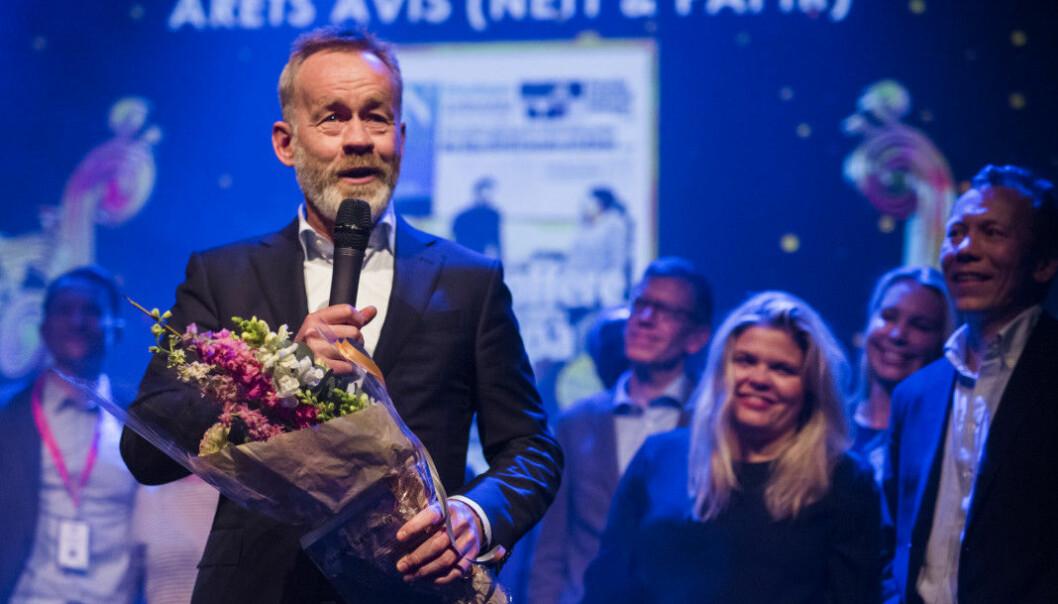 Dagens Næringsliv ble kåret til Årets avis i fjor. Arkivfoto: Kristine Lindebø
