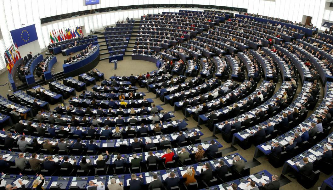 EU-parlamentet i Strasbourg tar tirsdag stilling til et kontroversielt forslag til reform av EUs direktiv om opphavsrett. Foto: Reuters / NTB scanpix