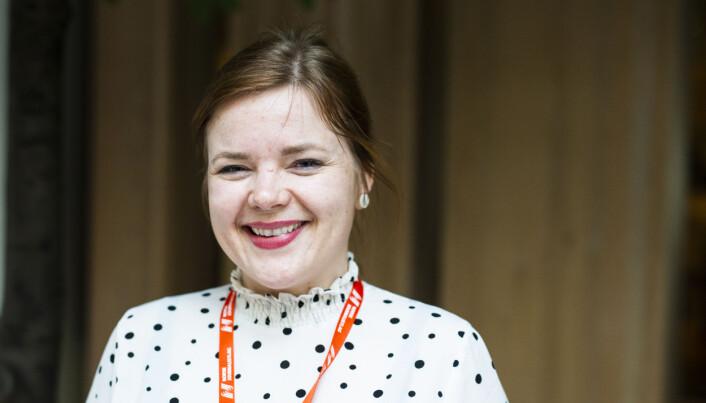 Silje Josten Lien, journalist i Dølen, representerer Oppland Journalistlag. Foto: Kristine Lindebø