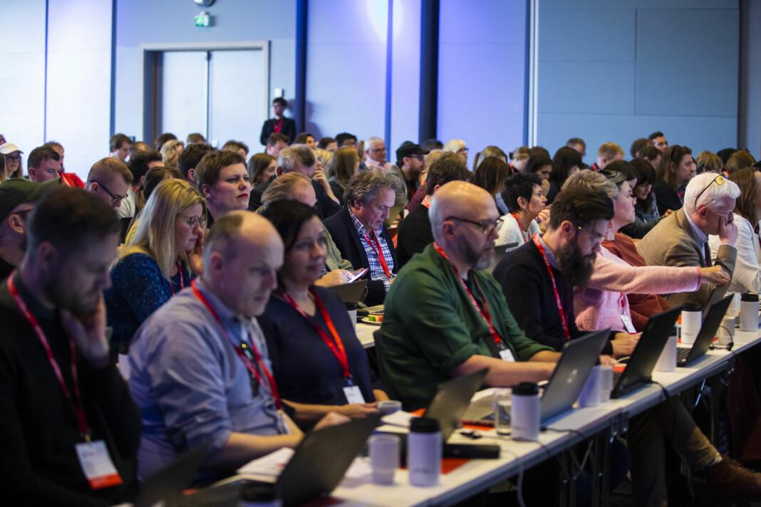 Norsk Journalistlags landsmøtet i 2019. I år blir møtet gjennomført digitalt.