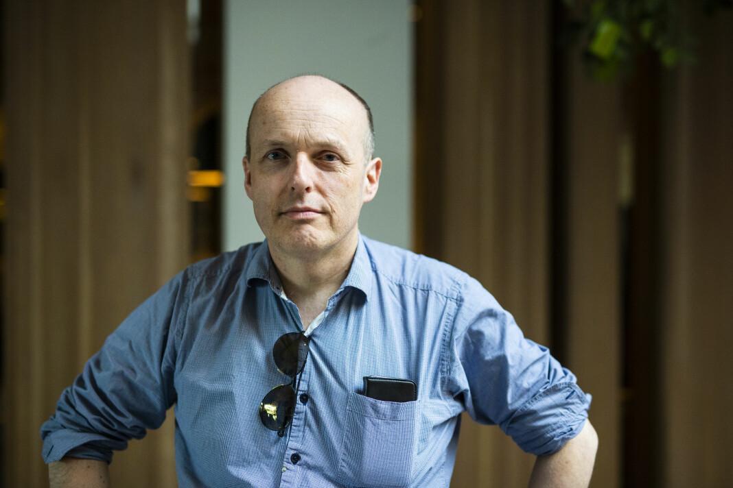 Lars Døvle Larssen leder NJ i Amedia, sitter i landsstyret for NJ og er journalist i Tønsbergs Blad. Foto: Kristine Lindebø