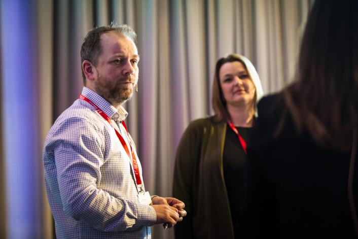 Tor-Erling Thømt Ruud, klubbleder i VG, snakket om rollen som klubbleder i en vanskelig situasjon. Foto: Kristine Lindebø