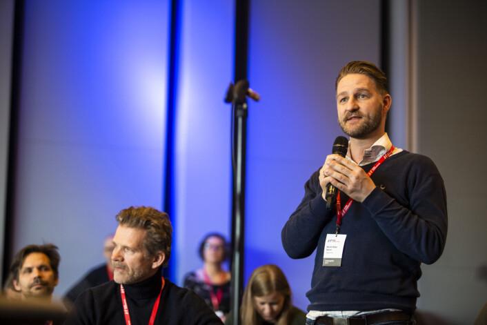 Dagens Næringsliv-journalist Martin Riber Sparre. Foto: Kristine Lindebø
