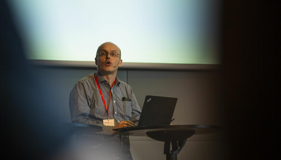 Lars Døvle Larssen, leder for NJ i Amedia, var en av initiativtakerne til forslaget om at NJ skal jobbe for at lokale lønnsoppgjør skal avspeile verdiskapningen i bedriftene. Nå er forslaget, med små endringer i ordlyden, tatt med i tiltaksplanen. Foto: Kristine Lindebø