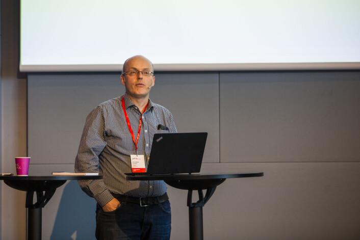Leder for NJ i Amedia, Lars Døvle Larsen. Foto: Kristine Lindebø