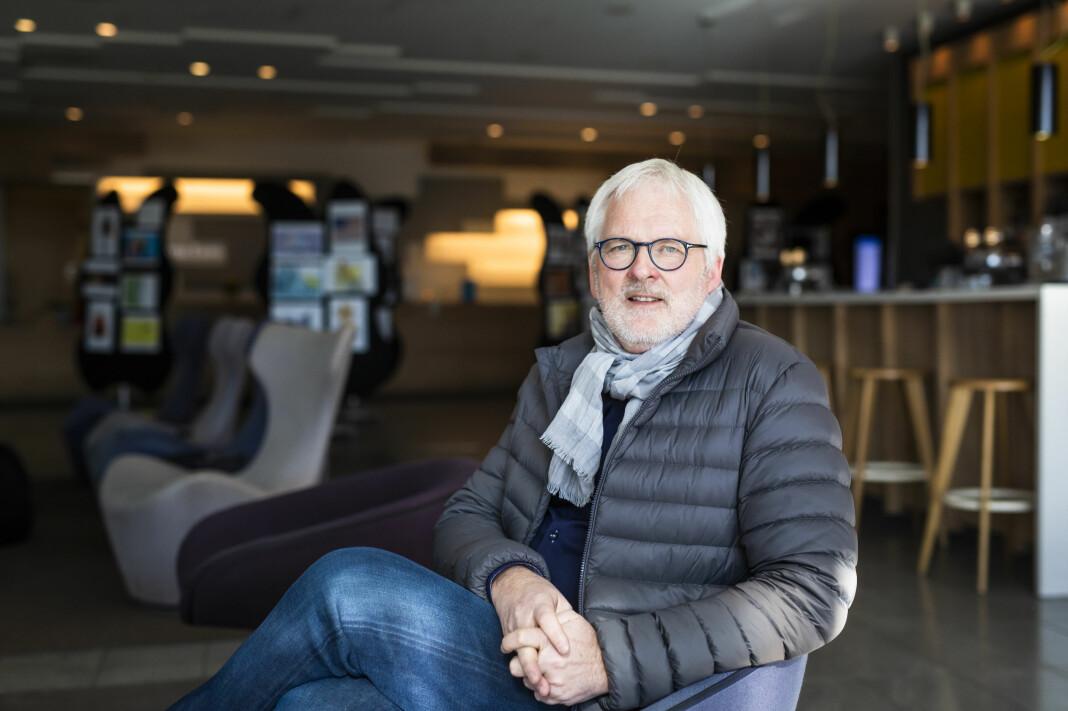 Direktør i Amedia, Stig Finslo. Her på NJs landsmøte på Fornebu. Arkivfoto: Kristine Lindebø