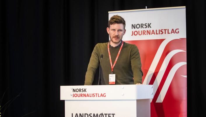 Leder Jens Kihl i Bergen Journalistlag. Foto: Nils Martin Silvola
