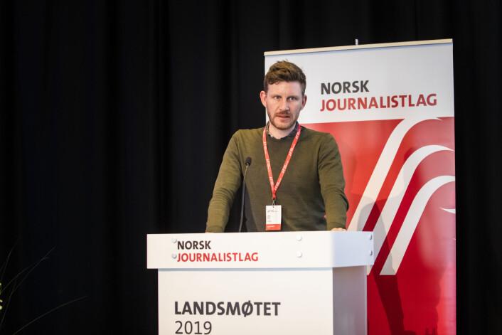 Leder Jens Kihl i Bergen Journalistlag ønsker ikke sammenslåing i vest. Foto: Nils Martin Silvola