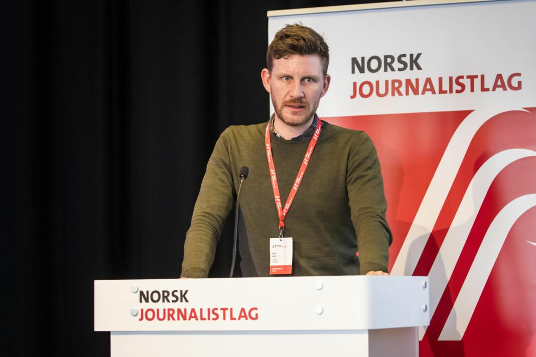 Bergen Journalistlag-leder og landsstyrevara Jens Kihl er fornøyd med at NJ får konkretisert en mangfoldsstrategi. Her fra landsmøte i 2019.