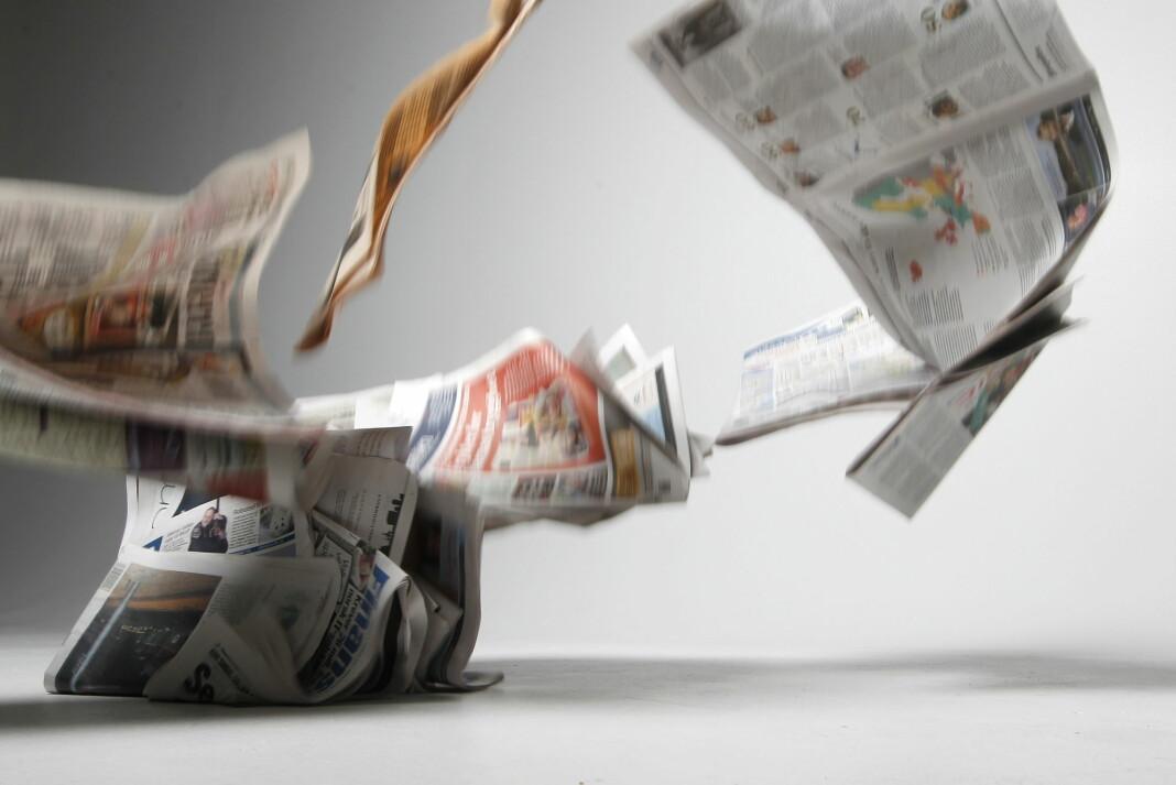 Mediebedriftenes Landsforening la i dag fram de offisielle leser- og opplagstallene. Foto: Håkon Mosvold Larsen / NTB scanpix