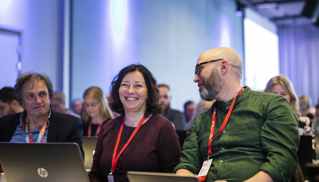 Her blir Sonja Nordanger valgt inn i landsstyret på Norsk Journalistlags landsmøte i 2019.