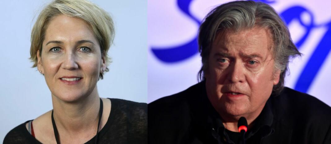Aftenpostens Christina Pletten har tenkt å være godt forberedt når hun møter Steve Bannon på scenen under Nordiske Mediedager. Foto: Ingar Storfjell/NTB Scanpix