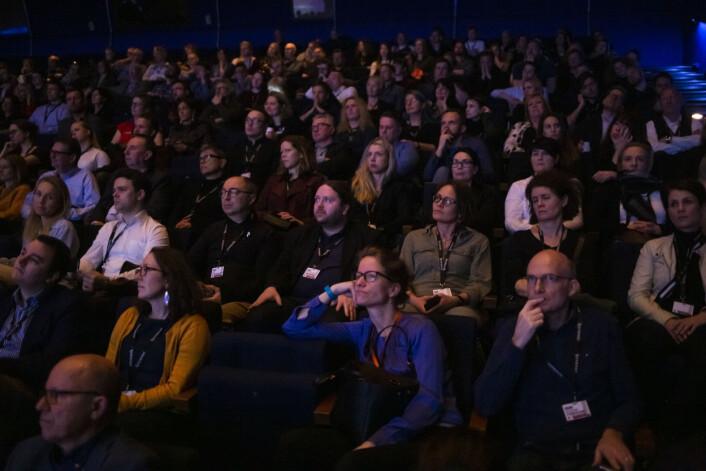 Skup-publikum under åpninga av Skup 2019. Foto: Eskil Wie Furunes