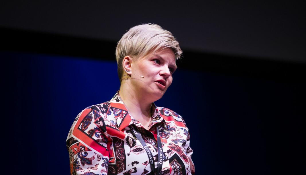 Styreleder i Skup, Silje Sjursen Skiphamn. Her fra åpningen av Skup 2019. Foto: Eskil Wie Furunes
