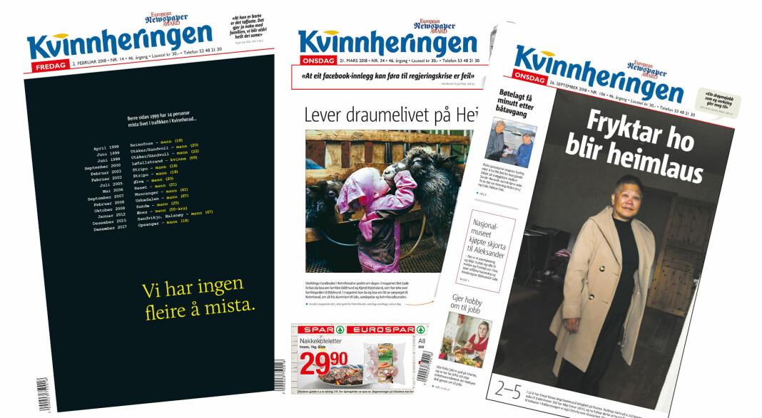I en klasse for seg selv: lokalavisa Kvinnheringen er kårets til Årets lokalavis.