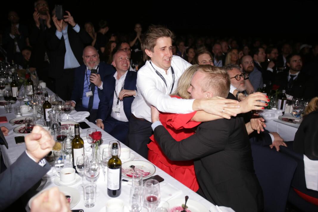 Dagens Næringsliv vinner Skup-prisen 2019. Foto: Eskil Wie Furunes