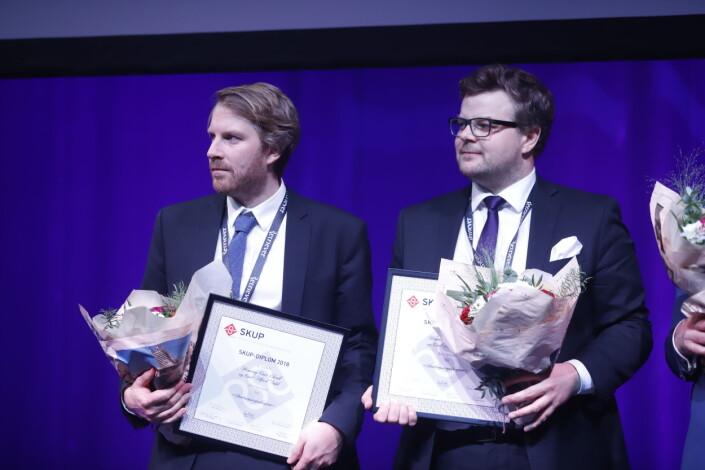 Henning Carr Ekroll og Carl Alfred Dahl fra Aftenposten vant Skup-diplom.