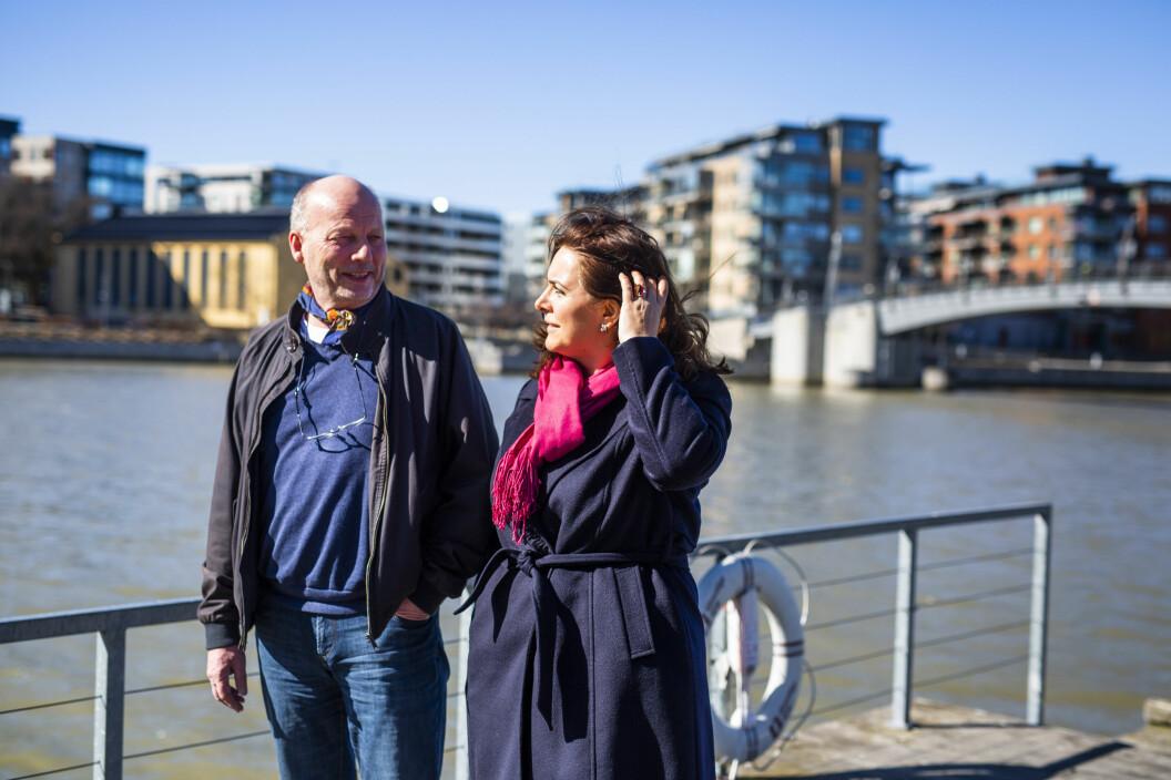 Morten Wang og Emira Holmøy har samarbeidet godt sammen i nesten ett år. Det førte til et Skup-diplom denne helgen. Foto: Kristine Lindebø