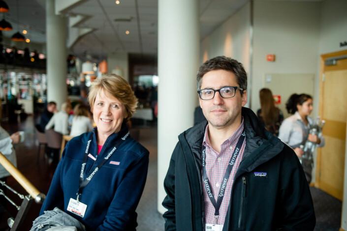 Elisabeth Bullimer og Adam Goldman på Skup-konferansen i Tønsberg denne helgen. Foto: Eskil Wie Furunes