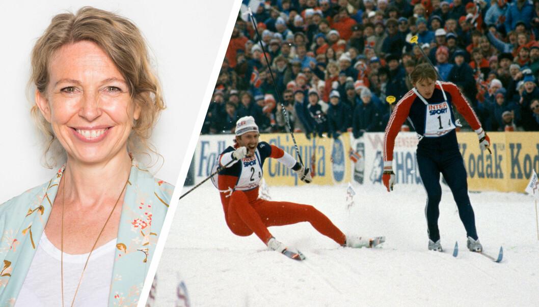 NTB scanpix, her ved leder for visuell kommunikasjon Christina Dorthellinger Nygaard, sender for tiden kravbrev til nettsteder som uten tillatelse har publisert blant annet dette bildet fra ski-VM 1982. Begge foto: NTB scanpix