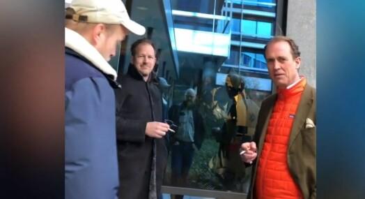 Med mobilkameraet i brystlomma konfronterte Dagbladet ledelsen i selskapet som knyttes til tyveri fra norske medier