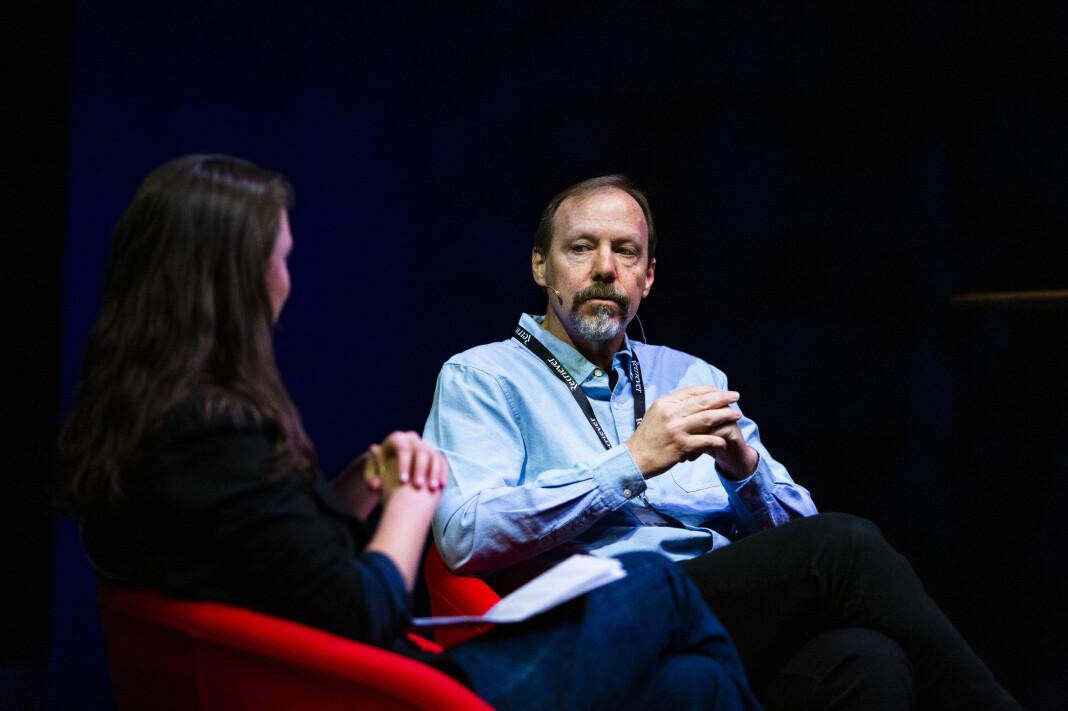 Ken Armstrong er en av journalistene bak leser- og lyttersuksessen om serievoldtektsmannen som til slutt blir tatt. Foto: Kristine Lindebø