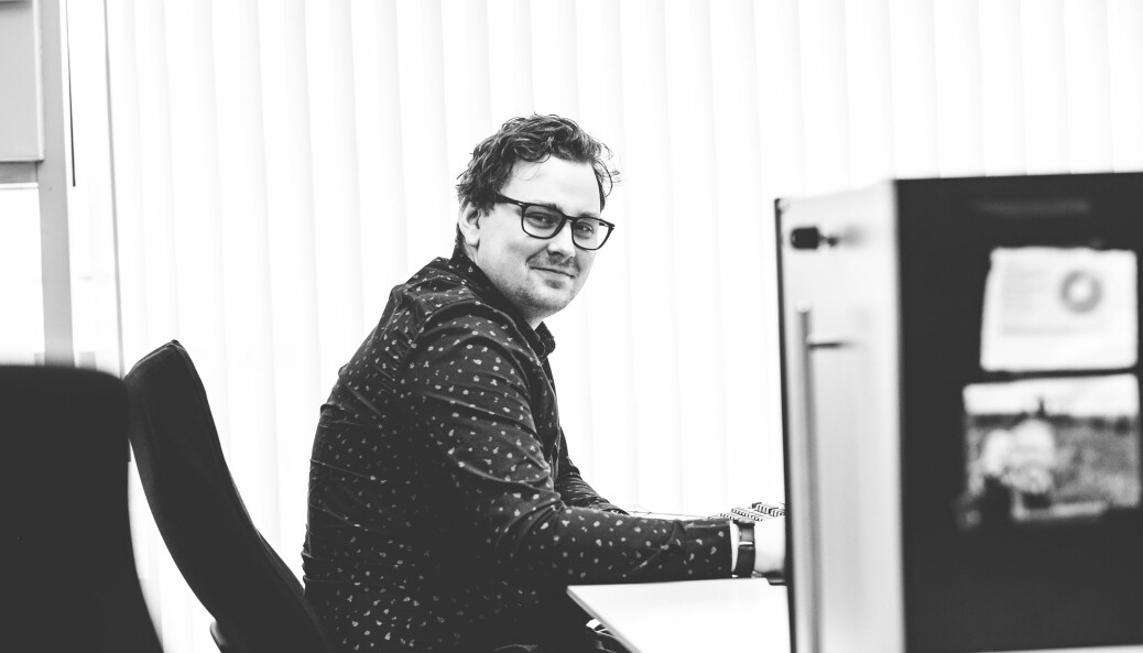 Etter noen få måneder i Nationen-huset, sikret Jon-Fredrik Klausen seg fast jobb. Foto: Privat
