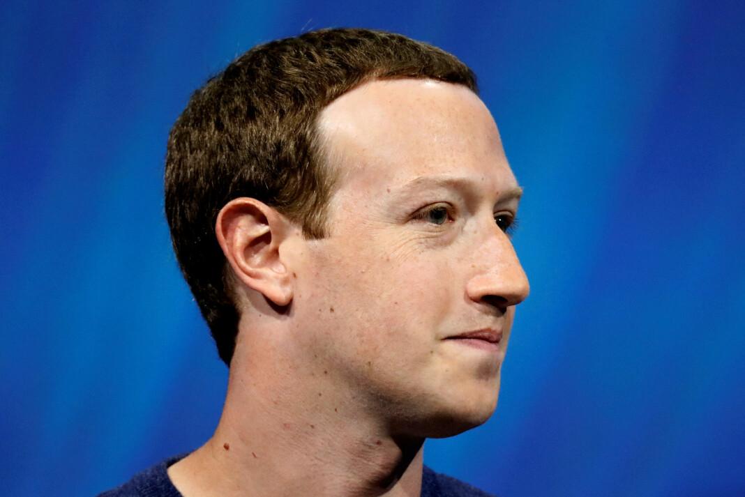 – Flesteparten av dem som strømmer, filmer bursdagsfester eller er sammen med venner, sa Facebook-sjef Mark Zuckerberg. Foto: Charles Platiau / Reuters / NTB scanpix