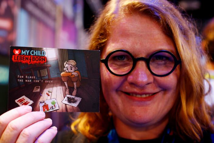 Elin Festøy er av «My Child Lebensborn»-skaperne. Her fotografert under spillmessen Gamescom i Tyskland. Foto: Reuters / NTB scanpix