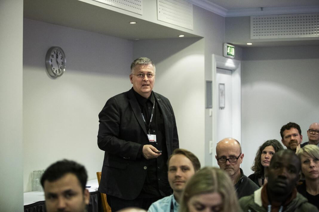 Henk van Ess er ekspert på internett-research, og delte sine tips på Skup. Foto: Kristine Lindebø