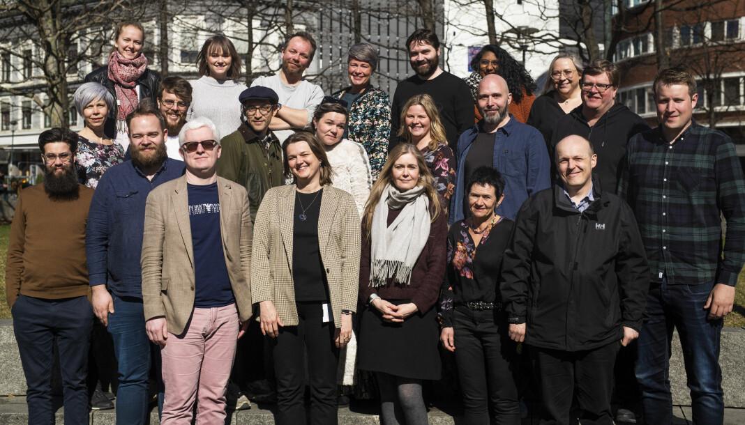 Norsk Journalistlags landsstyre samlet til sitt første møte på vårparten i år. Foto: Kristine Lindebø