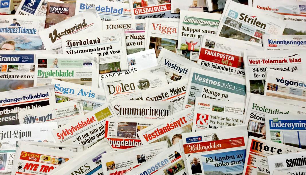 Illustrasjonsbilde av norske lokalaviser. Foto: Landslaget for lokalaviser (LLA)