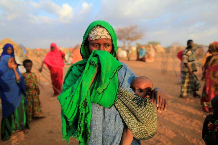 Ei internt fordreven kvinne i et tørkeområde i Dollow, Somalia, april, 2017. Foto: Zohra Bensemra / Reuters / NTB scanpix
