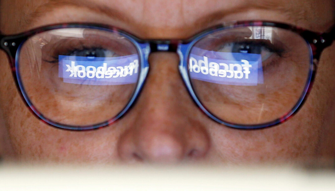 Facebooksiden til det danske nettstedet 24nyt er stengt. Illustrasjonsfoto: Regis Duvignau / Reuters / NTB scanpix