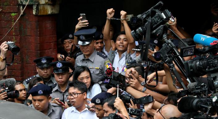 Fengslede Reuters-reportere hedres med pressefrihetspris