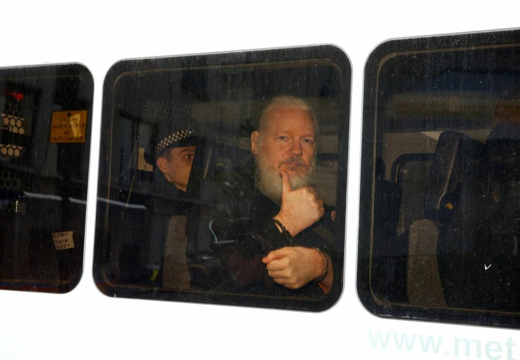 Julian Assange er anklaget for spionasje fordi han publiserte hemmeligstemplet materiale Foto: Reuters / NTB scanpix